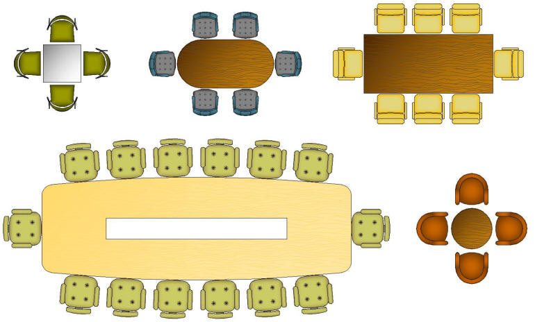 CAD Blocks Color Furniture TABLES OFFICE amp BOARDROOM : SampleCAD Symbol BlockFurniture01 from www.cad-architect.net size 770 x 464 jpeg 54kB