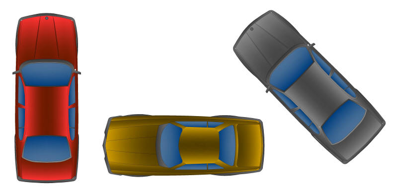 Cad Blocks Color Vehicles Sedans Plan