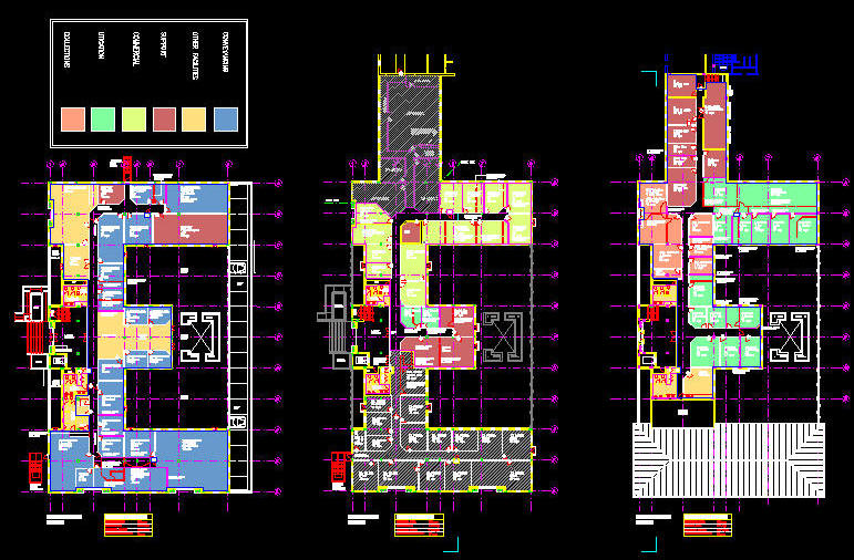 Cad Building Template 1000sqm Office Floor Layout 3