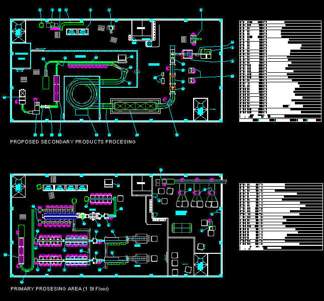 CAD BUILDING TEMPLATE : FACTORY - FISH PROCESSING PLANT