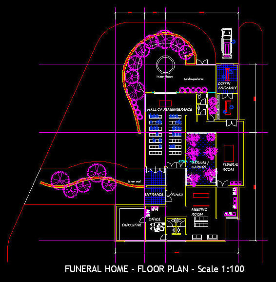 Funeral home floor plans design – Funeral Home Floor Plan