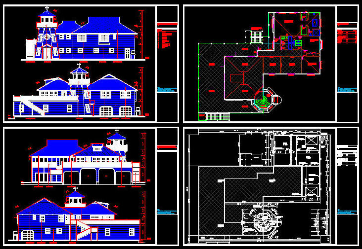 Cad Building Template Us House Plans House Type 2