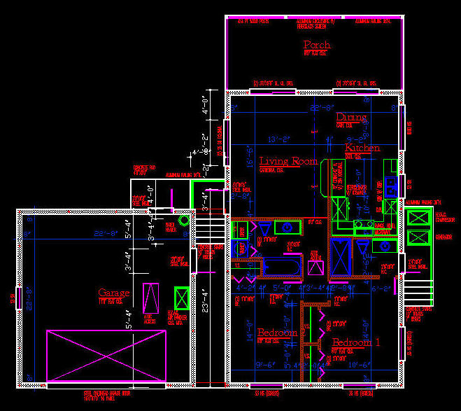 Cad building template us house plans house type 5 for Building plans in autocad format