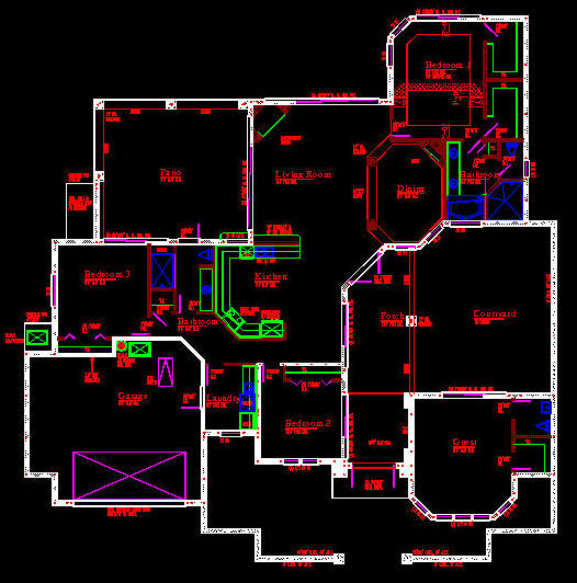 Cad Building Template Us House Plans House Type 10