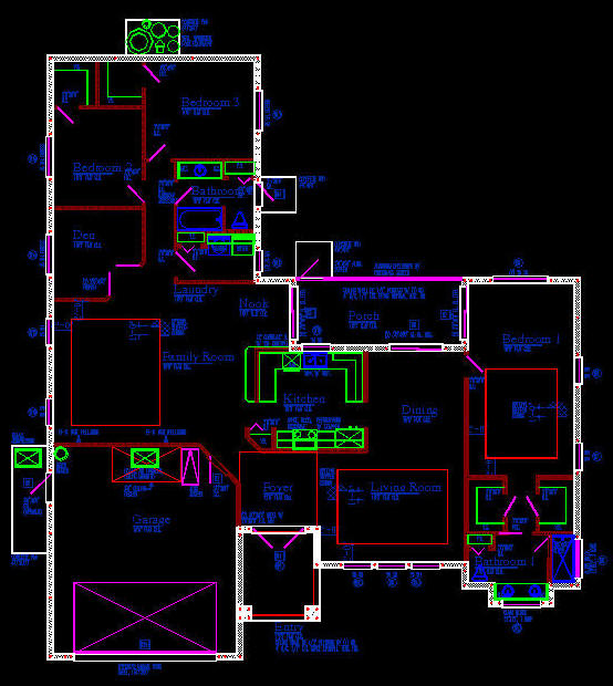 Cad building template us house plans house type 18 Autocad house drawings