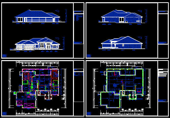 dwg templates free download - cad building template us house plans house type 21