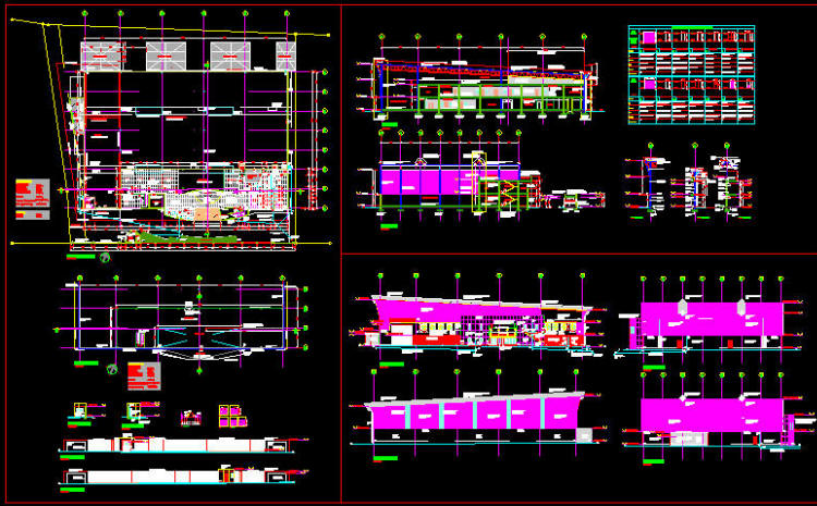 cad building template   factory