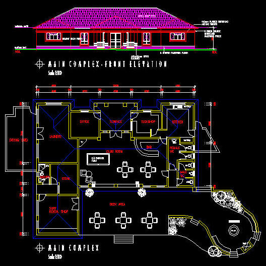 cad building template   clubhouse