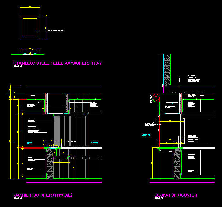 Cad Details Joinery Typical Cashiers Amp Dispatch