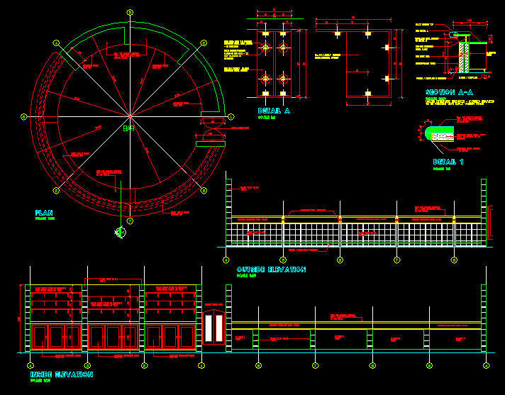 cad details joinery bar counter indoor round type