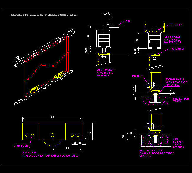Cad Details Doors Heavy Duty Suspended With Bottom