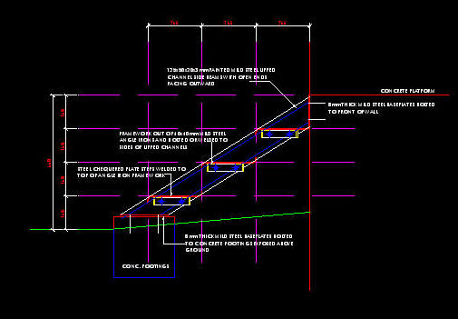 exterior steel staircase details. cad details: steel stair - small three step exterior staircase details t