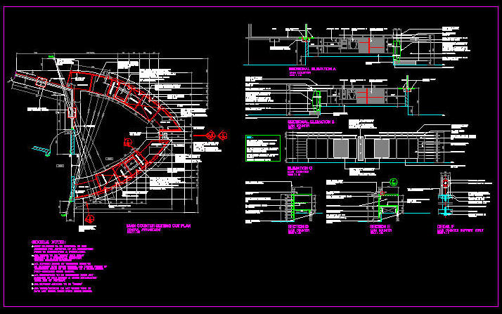 Cad Details Joinery Reception Info Counter 2