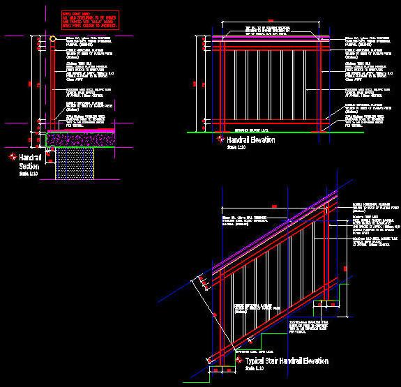 cad details handrail balustrade steel stainless. Black Bedroom Furniture Sets. Home Design Ideas