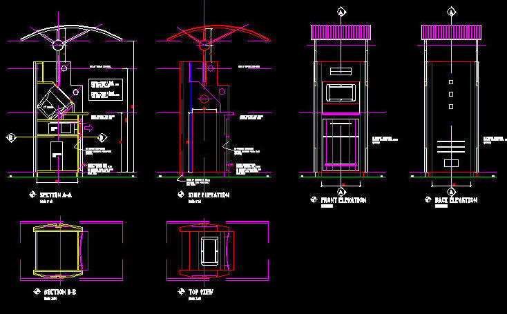 cad details joinery information kiosk design 1