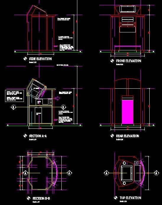 Cad Details Joinery Information Kiosk Design 2