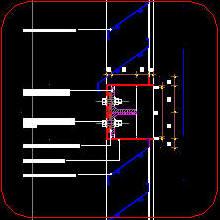 CAD DRAWING ALUMINIUM INTAKE LOUVRE