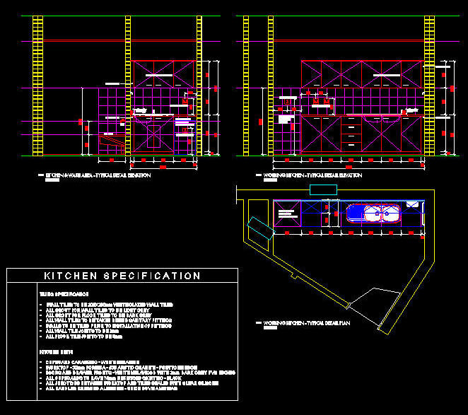 Kitchen Layout Autocad: OFFICE LAYOUT, FULLY DOCUMENTED SET 1