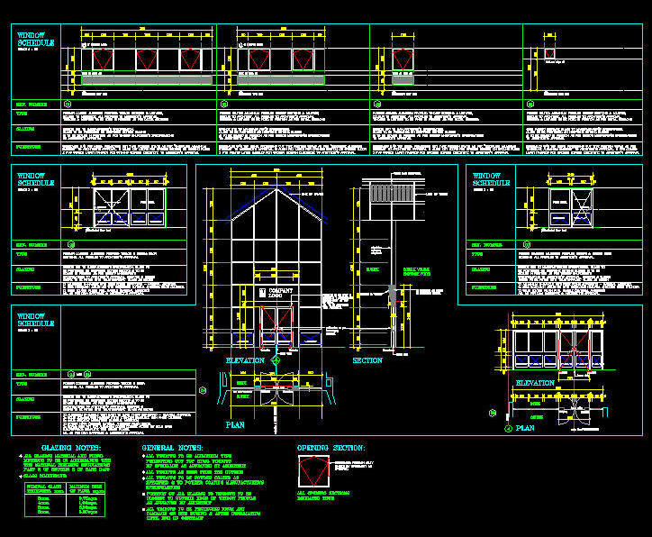 Cad Drawing Window Schedule Template 4