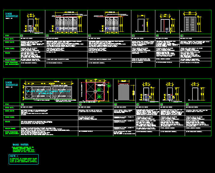 Cad Drawing Door Schedule Template 7 Industrial B