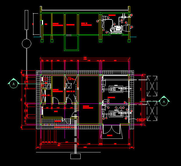Cad drawing generator building equipment layout 2 for Room layout maker