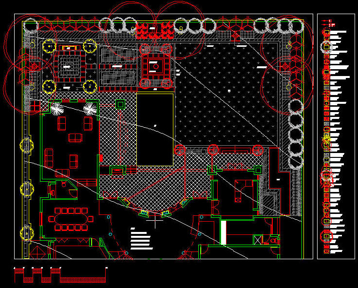 Site Plan Autocad : Cad drawing residential design landscaped site