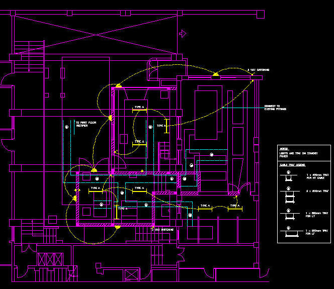 electrical plan cad drawing wiring diagram Electrical Print Reading