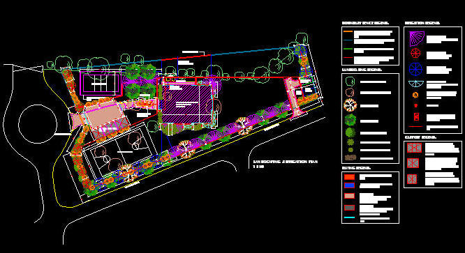 CAD DRAWING : LAYOUTS - IRRIGATION SYSTEM / SPRINKLER LAYOUT 2