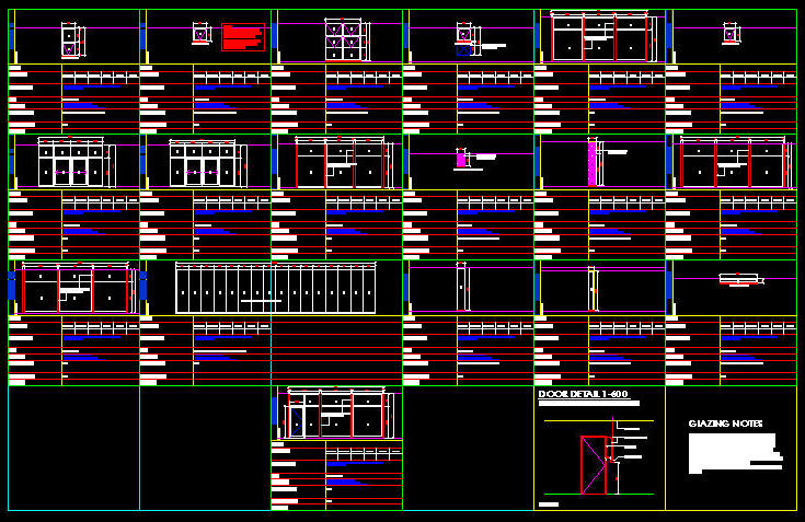 Cad Drawing Window Schedule Template 3