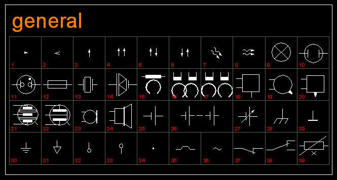 Cad electrical symbols library