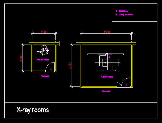 Cad Drawing Hospital Clinic Room X Ray Rooms