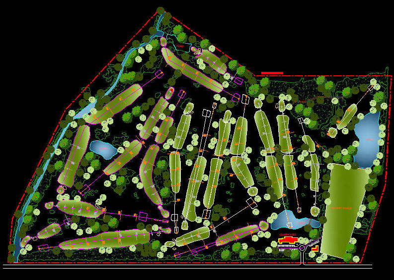 how to draw a golf course layout