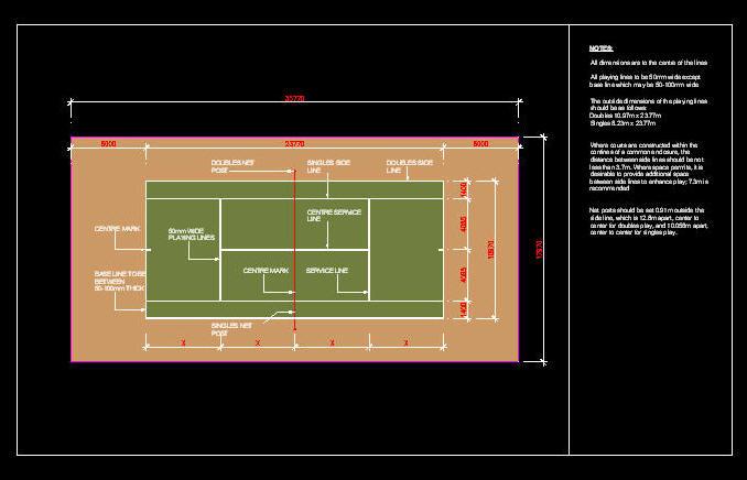 Cad Drawing   Sport Field