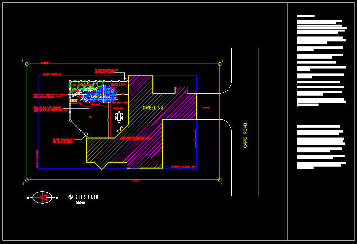 CAD DRAWING Swimming Pool